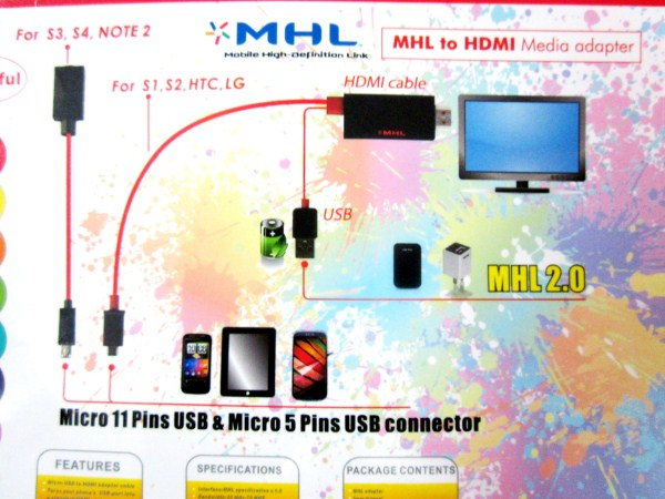 Cáp HDMI Samsung Galaxy S4 - I9500