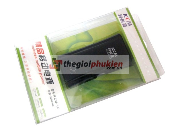 Pin backup KCM 12 - 5200 mAh