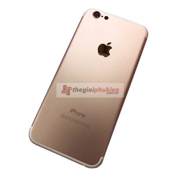 Vỏ iPhone 7 thay iPhone 6 gold rose